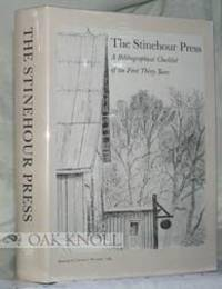 The Stinehour Press: A Bibliograhical Checklist of the First Thirty Years