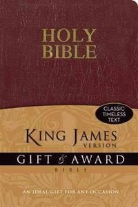 KJV, Gift and Award Bible, Imitation Leather, Burgundy, Red Letter Edition