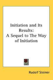 image of Initiation and Its Results: A Sequel to The Way of Initiation