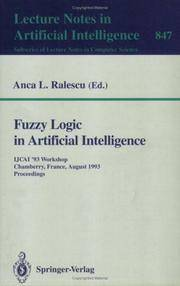 Fuzzy Logic in Artificial Intelligence: IJCAI '93 Workshop, Chamberry, France, August 28,...
