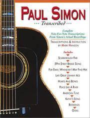 image of Paul Simon - Transcribed (Paul Simon/Simon_Garfunkel)