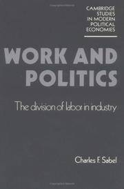 Work and Politics: The Division of Labour in Industry (Cambridge Studies in Modern Political...