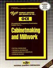 Cabinetmaking And Millwork, OCE-9