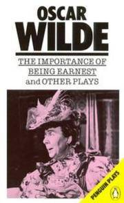 The Importance of Being Earnest and Other Plays ( by  Oscar Wilde - Paperback - from Russell Books Ltd (SKU: FORT495520)