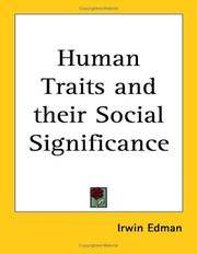 image of Human Traits and their Social Significance