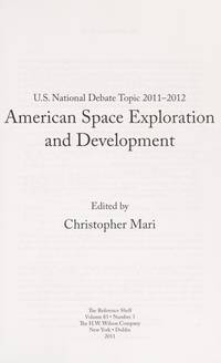 U.S. National Debate Topic 2011-2012: American Space Exploration and Development