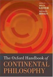 The Oxford Handbook of Continental Philosophy (Oxford Handbooks)