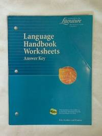9780030524097 - Language Handbook Worksheets Answer Key (Elements of ...