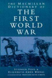 The Macmillan Dictionary of the First World War