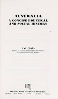Australia: A concise political and social history