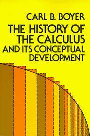 image of The History of the Calculus and Its Conceptual Development (Dover Books on Mathematics)