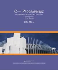 image of C++ Programming: Program Design Including Data Structures