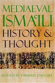 MEDIAEVAL ISMA'ILI HISTORY AND THOUGHT