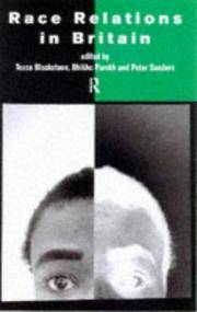 Race Relations in Britain: A Developing Agenda