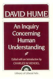 an examination of an enquiry concerning human understanding by david hume Text of david hume's argument that david hume (1772) an enquiry concerning human understanding all the objects of human reason or enquiry may.