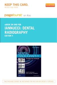 DENTAL RADIOGRAPHY - PAGEBURST E-BOOK ON KNO (RETAIL ACCESS CARD)