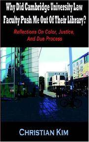 Why Did Cambridge University Law Faculty Push Me Out Of Their Library?  Reflections On Color,...