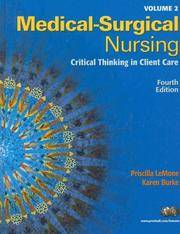 image of Medical-Surgical Nursing: Critical Thinking in Client Care (Medical Surgical Nursing)