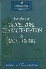 Handbook of Vadose Zone Characterization and Monitoring (Geraghty and Miller Environmental...
