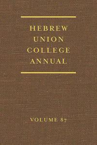 Hebrew Union College Annual (87)