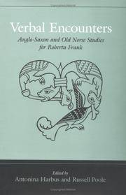 Verbal Encounters: Anglo-Saxon and Old Norse Studies for Roberta Frank (Toronto Old English Series)