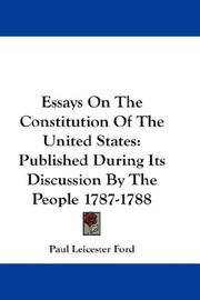 English Literature Essay Topics Image Of Essays On The Constitution Of The United States Published During  Its Discussion By High School And College Essay also Persuasive Essay Ideas For High School Essays On The Constitution Of The United States By Ford Paul Leicester Examples Of A Proposal Essay