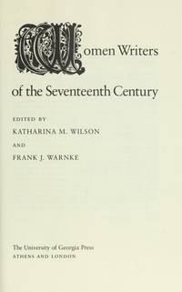 Women Writers of the Seventeenth Century