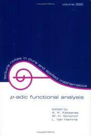 P-ADIC FUNCTIONAL ANALYSIS