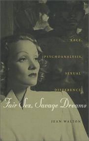 Fair sex, savage dreams : race, psychoanalysis, sexual Difference