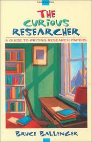 curious guide papers research researcher writing Amazoncom: the curious researcher: a guide to writing research papers (8th edition) (9780321992963): bruce ballenger: books.