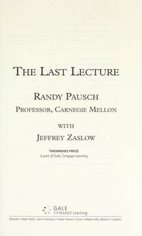 image of The Last Lecture (Thorndike Nonfiction)