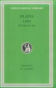 image of Plato: Laws, Books 7-12 (Loeb Classical Library No. 192)