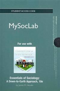 New Mysoclab -- Standalone Access Card -- For Essentials Of Sociology