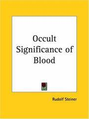image of Occult Significance of Blood