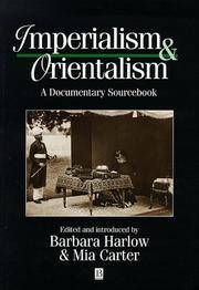 Imperialism and Orientalism: A Documentary Sourcebook