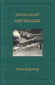 Once Again the Wonder by Richard Quinney - 1st Edition - 2008 - from Small World Books, LLC and Biblio.com