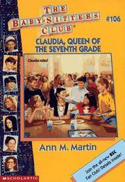 image of Claudia, Queen of the Seventh Grade (Baby-Sitters Club, No. 106)