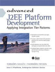 Advanced J2EE platform development; applying integration tier patterns.