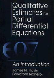 Qualitative Estimates For Partial Differential Equations: An Introduction (Engineering Mathematics)