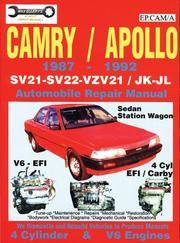 Toyota Camry/Apollo 1987-92 Auto Repair Manual-4 cyl SV21-SV22 & V6 VZV21  Models