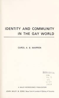 Identity and Community in the Gay World
