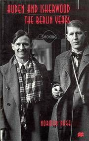 Auden and Isherwood The Berlin Years