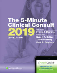 THE 5 MINUTE CLINICAL CONSULT 2019 27ED (HB 2019)