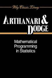 Mathematical Programming in Statistics