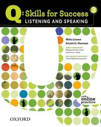 image of Q: Skills for Success 3 Listening & Speaking Student Book with Student Access Code Card