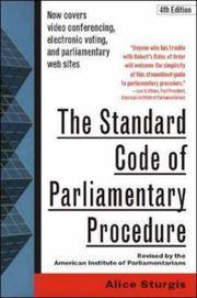 The Standard Code of Parliamentary Procedure 4th Edition Revised and Updated