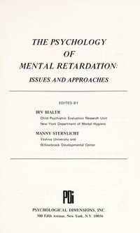 Psychology of Mental Retardation Issues Approaches