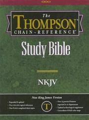 image of Thompson Chain Reference Bible (Style 310black index) - Regular Size NKJV - Genuine Leather