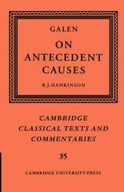 image of Galen: On Antecedent Causes