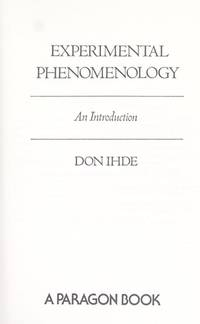 Experimental phenomenology; an introduction